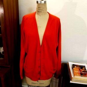 Vintage 1950's PRINGLE 100% Cashmere Cardigan L